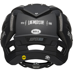 Bell Super Air MIPS Helm, matte black/white fasthouse